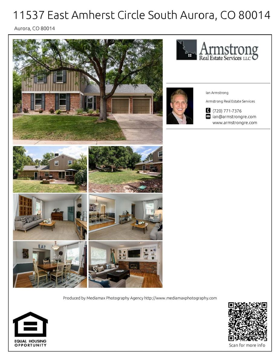 Aurora Real Estate Flyer of a property in Dam West Sub